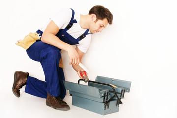 handwerker sucht werzeug