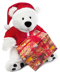 Bear with christmas hat