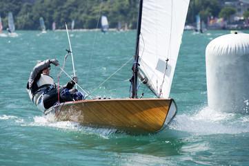 race contender on the Lake of Garda