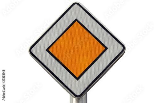 panneau de route prioritaire photo libre de droits sur la banque d 39 images image. Black Bedroom Furniture Sets. Home Design Ideas