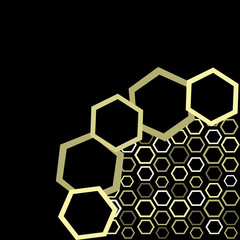 Vector wallpaper of honey
