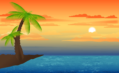 Lovely Cartoonist Scenic Background