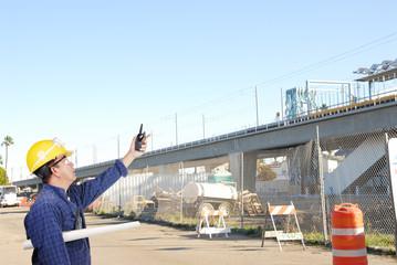 construction site under the bridge