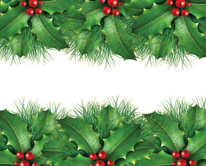 Green pine Christmas background image