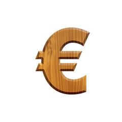 Euro - Lettre en bois - alphabet