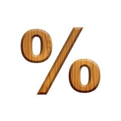 Pourcent en bois - alphabet