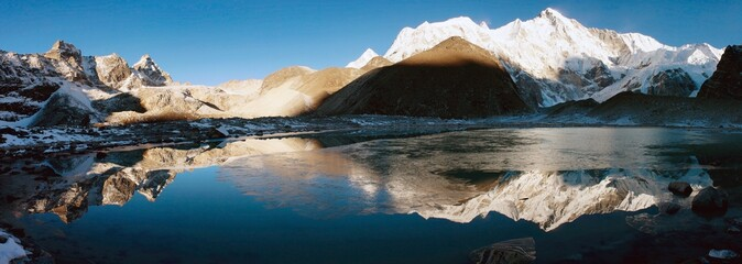 Poster Nepal view of cho oyu