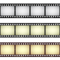 vector scratched seamless film strips