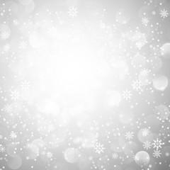 Silver Snowflake Christmas Background