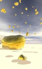 pluie de pépites d'or