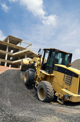 Loader Tractor at work on construction yard