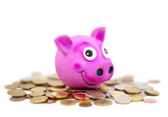 économie sur des pièces de monnaies
