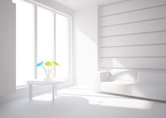 grey interior design with furniture