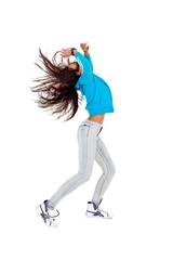 Tänzerin mit blauer Jacke