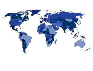 Isolated World Map Illustration