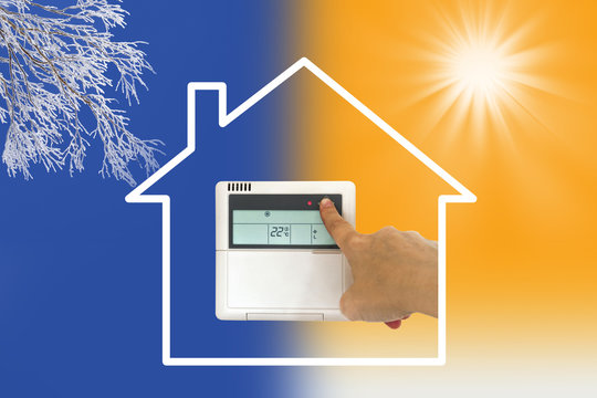 Concept maison chauffage, climatisation