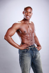 African American fitness model