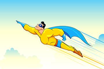 Fotobehang Superheroes Flying Superhero