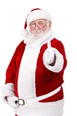 Santa Claus with thumb up