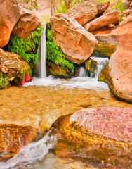 Wall Mural - Beautiful Desert Waterfall