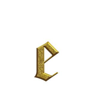 e  - Alphabet en or - Lettrine