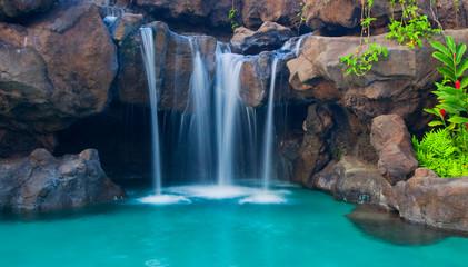 Waterfall into Resort Pool