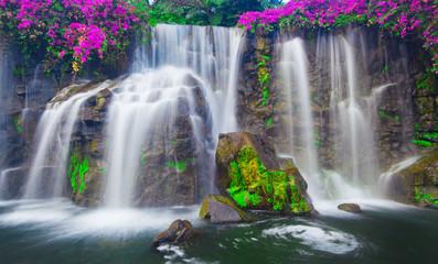 Printed roller blinds Waterfalls Waterfall in Hawaii