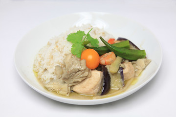 green curry on the dish