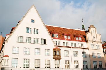 Facade of the ancient house in Tallinn