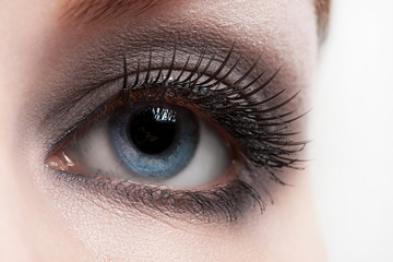 Woman eye with makeup