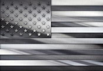 Silver Flag Of USA