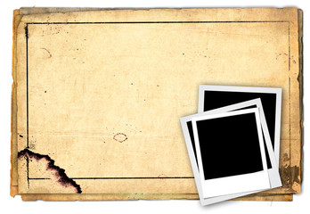 photo frame on old paper background