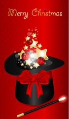 Abstract xmas Magic Hat