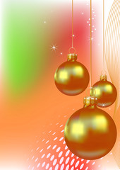 Christmas.  Background with  balls for your design.