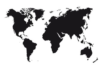 silhouette map