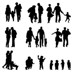 family groups, vector