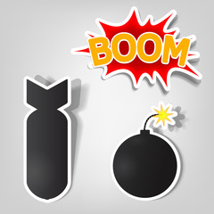 bomb and rocket stickers