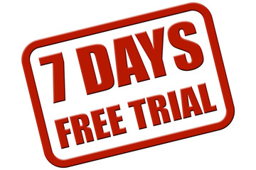 Stempel rot rel 7 DAYS FREE TRIAL