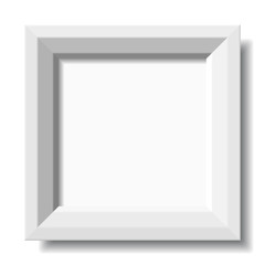 vector white stylish photo frame