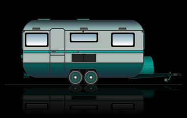 Caravan or camper van, vector