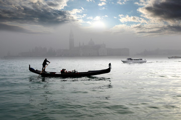 Keuken foto achterwand Gondolas Venice with gondola on canal in Italy