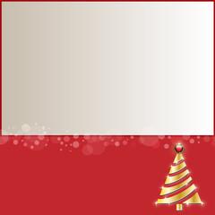 weihnachtskarte mit christbaum - gold