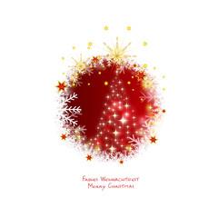 glitzerndes weihnachtsfest - christbaum