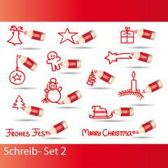 doodle - weihnachtssymbole