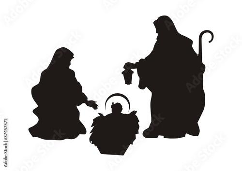 Presepe silhouette immagini e vettoriali royalty free su for Scarica clipart