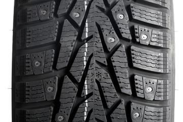 Winter thorn tire closeup