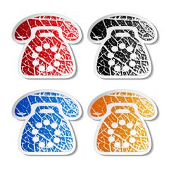 Vector phone stickers