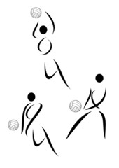 Vector volleyball symbol