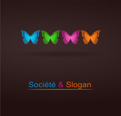 logo papillon design couleurs