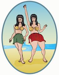Two dancing girls